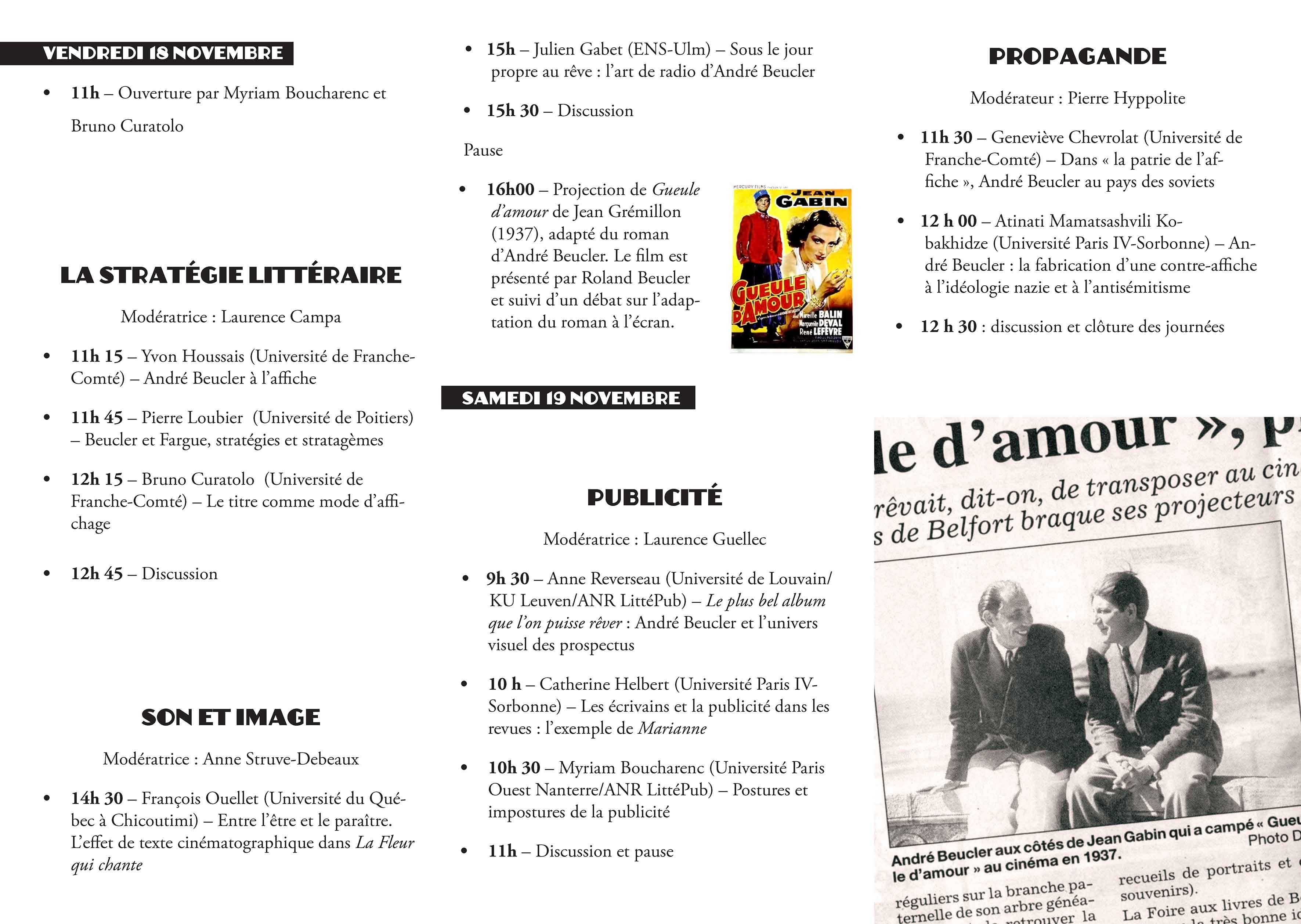 Le site officiel de l'Association André Beucler (1898-1985